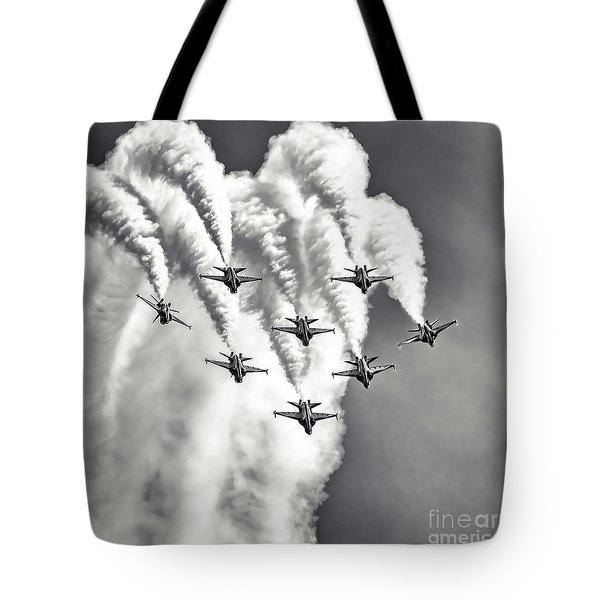 Tote Bag featuring the photograph Skyfall by Ray Shiu