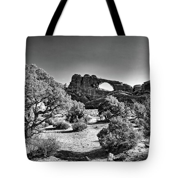 Skyline Arch In Arches National Park Tote Bag