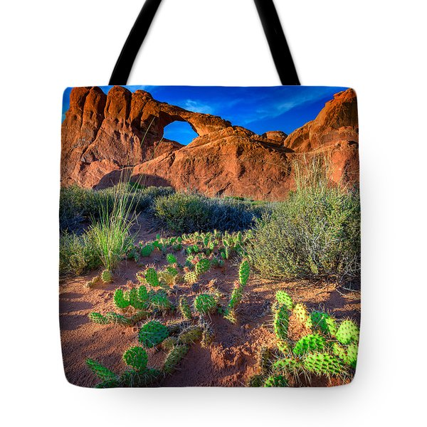Skyline Arch In Late Day Sun Tote Bag