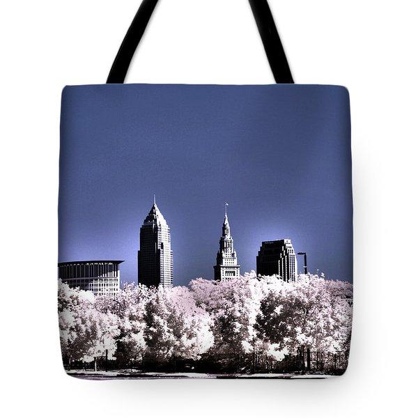 Skyline Cleveland, Ohio Tote Bag by Bob LaForce