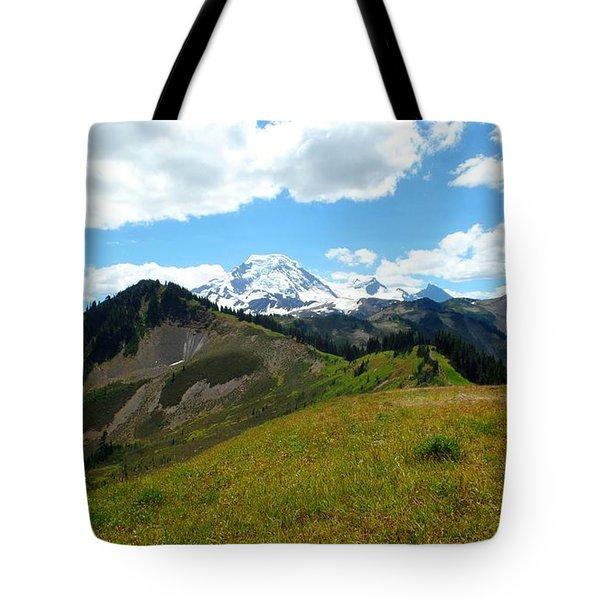 Tote Bag featuring the photograph Skyline Divide Trail by Karen Molenaar Terrell