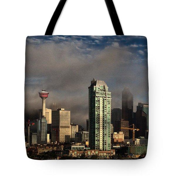 Skyline Fog Tote Bag by Brad Allen Fine Art