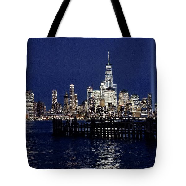 Skyline Lights Tote Bag
