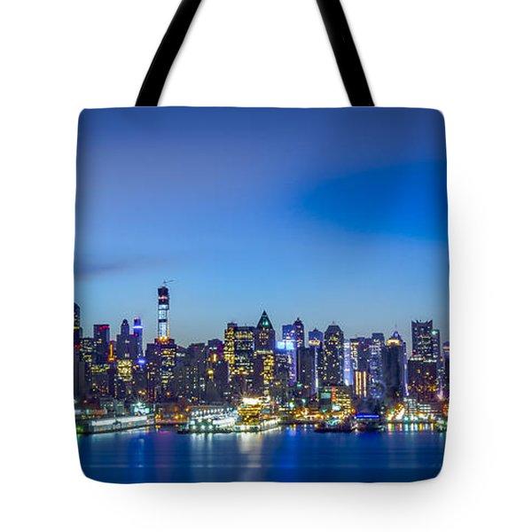Skyline Nyc Before Sunrise Tote Bag