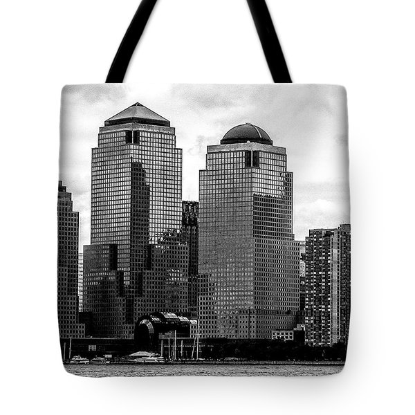 Tote Bag featuring the photograph Skyline Nyc River View  by Louis Dallara