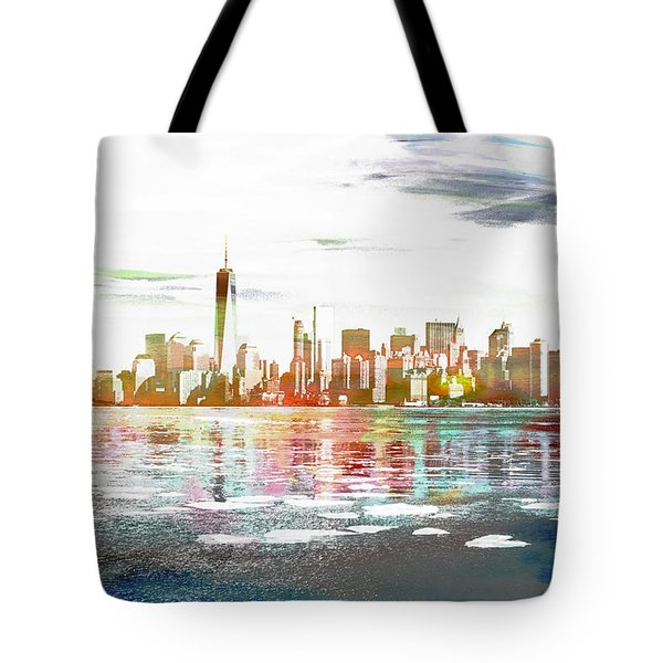 Skyline Of New York City, United States Tote Bag