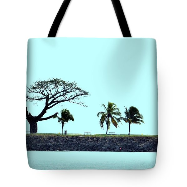 Skyline On Blue Tote Bag