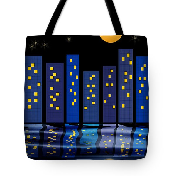 Skyline Reflections Tote Bag by Arline Wagner