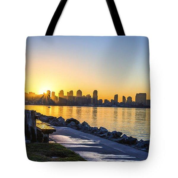 Divine Skyline Sunrise Tote Bag