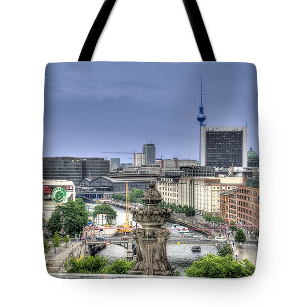 Skyline Tote Bag by Uri Baruch