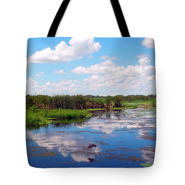 Skyscape Reflections Blue Cypress Marsh Near Vero Beach Florida C5 Tote Bag