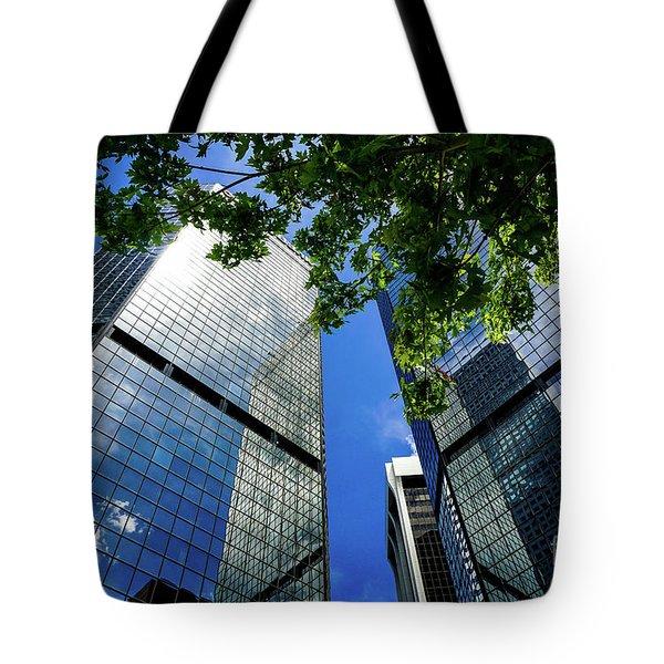 Skyscraper Spring Tote Bag