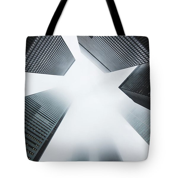 Skyscrapers Tote Bag by Happy Home Artistry