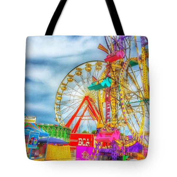 Skyscrapers Of Fun Tote Bag by Jame Hayes