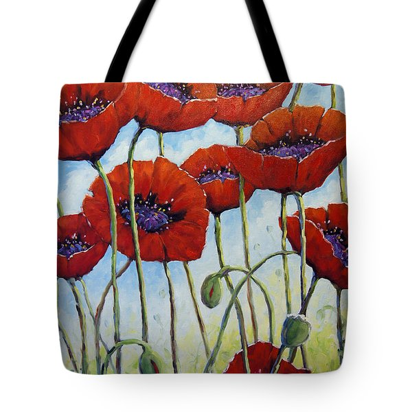 Skyward Poppies Tote Bag