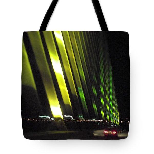 Skyway At Night 5559 Tote Bag