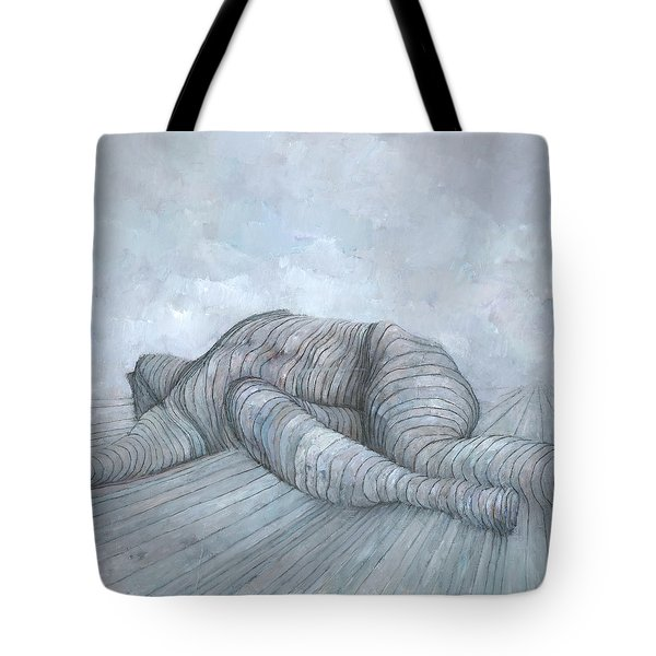 Tote Bag featuring the painting Slain by Steve Mitchell