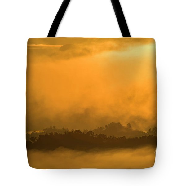 Tote Bag featuring the photograph sland in the Mist - D009994 by Daniel Dempster
