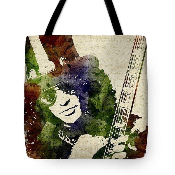 Slash Watercolor Tote Bag