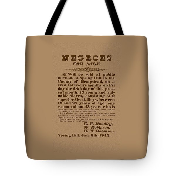 Slave Auction Tote Bag by War Is Hell Store