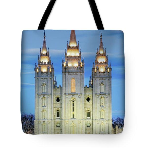 Slc Temple Blue Tote Bag