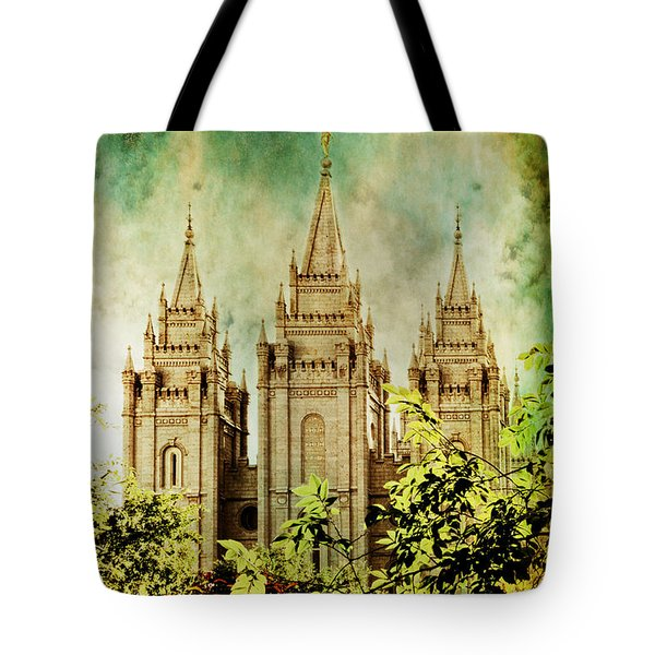 Slc Vintage Green Tote Bag by La Rae  Roberts
