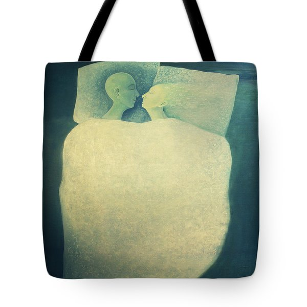 Sleep - In Love Tote Bag by Tone Aanderaa