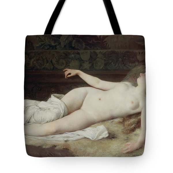 Sleep Tote Bag by Louis Joseph Raphael Collin