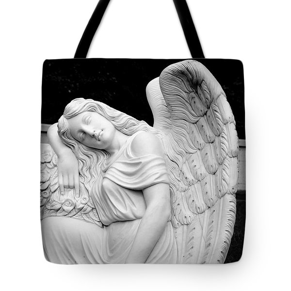 Sleeping Angel Tote Bag by Jean Haynes