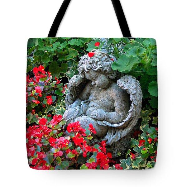 Sleeping Angel Tote Bag by Sue Melvin
