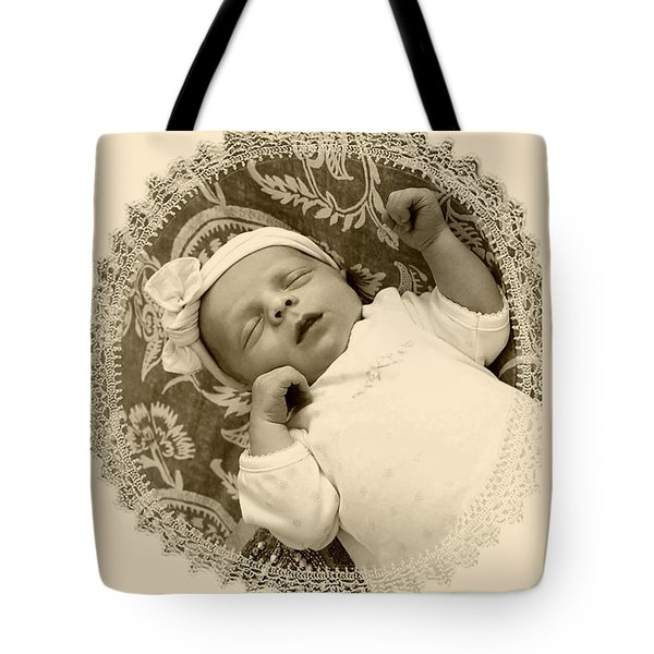 Sleeping Baby Tote Bag by Ellen O'Reilly
