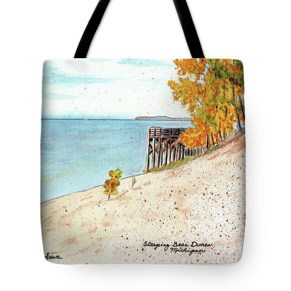 Sleeping Bear Dunes, Sand Dunes, Dune Paintings, Sandy Beaches, Lake Michigan Shoreline Tote Bag