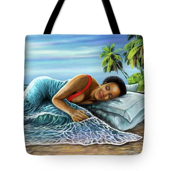 Sleeping Beauty Tote Bag by Anthony Mwangi