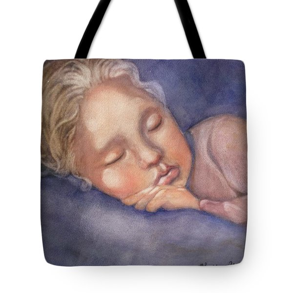 Tote Bag featuring the painting Sleeping Beauty by Marilyn Jacobson