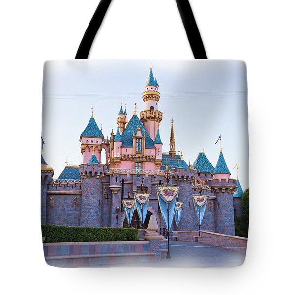 Sleeping Beauty's Castle Disneyland Tote Bag