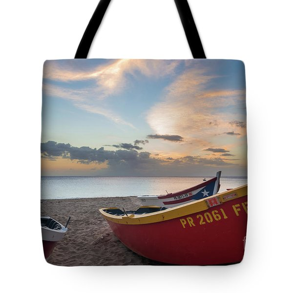 Sleeping Boats On The Beach Tote Bag