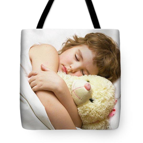 Sleeping Boy Tote Bag