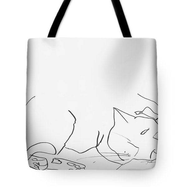 Sleeping Cat II Tote Bag