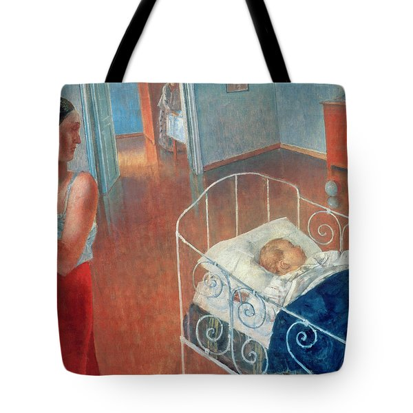 Sleeping Child Tote Bag by Kuzma Sergeevich Petrov Vodkin