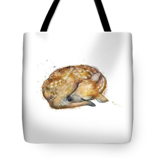 Sleeping Fawn Tote Bag