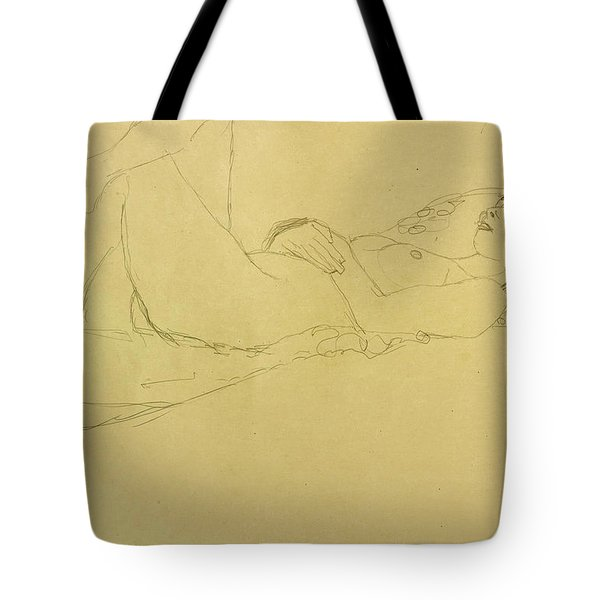 Sleeping Girl Tote Bag