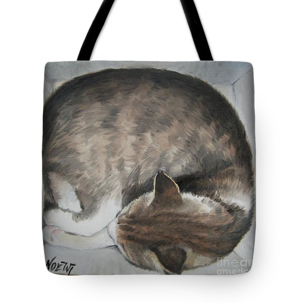 Sleeping Kitty Tote Bag by Jindra Noewi