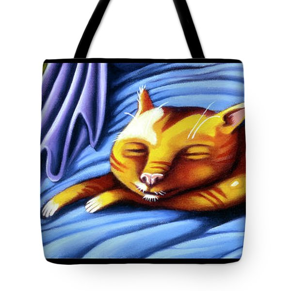 Sleeping Kitty Tote Bag
