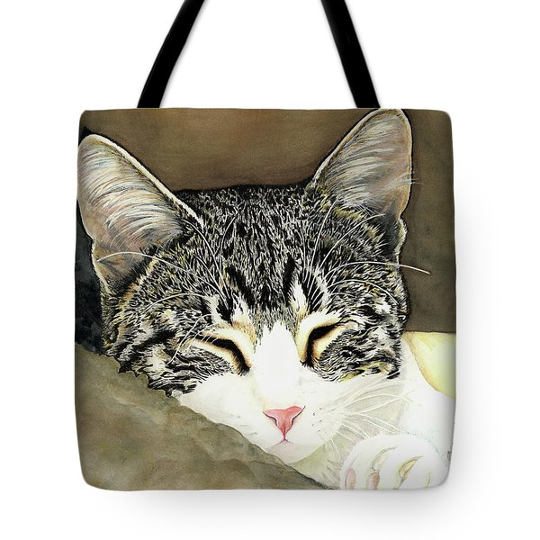 Sleeping Mia Tote Bag