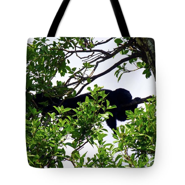 Tote Bag featuring the photograph Sleeping Monkey by Francesca Mackenney