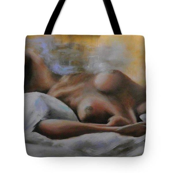 Sleeping Nude Tote Bag