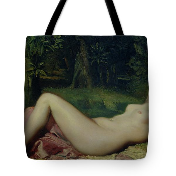 Sleeping Nymph Tote Bag by Theodore Chasseriau