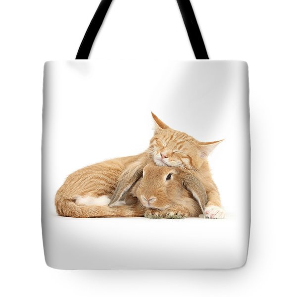 Sleeping On Bun Tote Bag