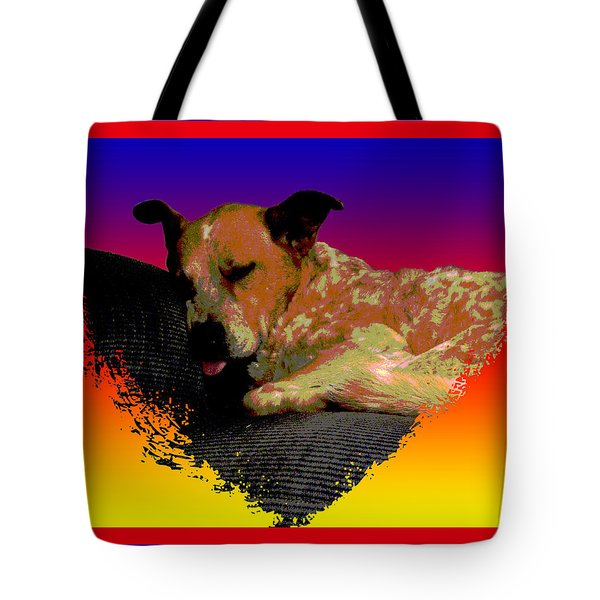 Sleeping Soundly Tote Bag by One Rude Dawg Orcutt