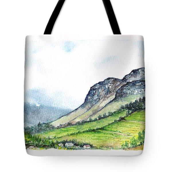 Tote Bag featuring the painting Sleeping Valley by Heidi Kriel